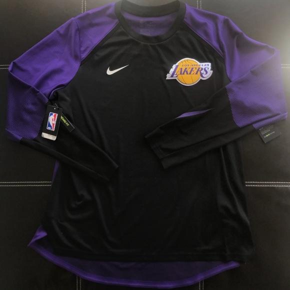 4d6bd3e4 Nike Shirts   Nwt Los Angeles Lakers Warm Up Jersey Shirt   Poshmark